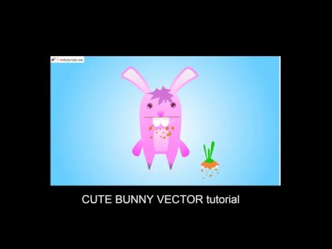 How To Create a cute Bunny Character using Illustrator