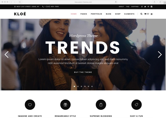 best-selling WordPress eCommerce theme of 2016 for fashion store