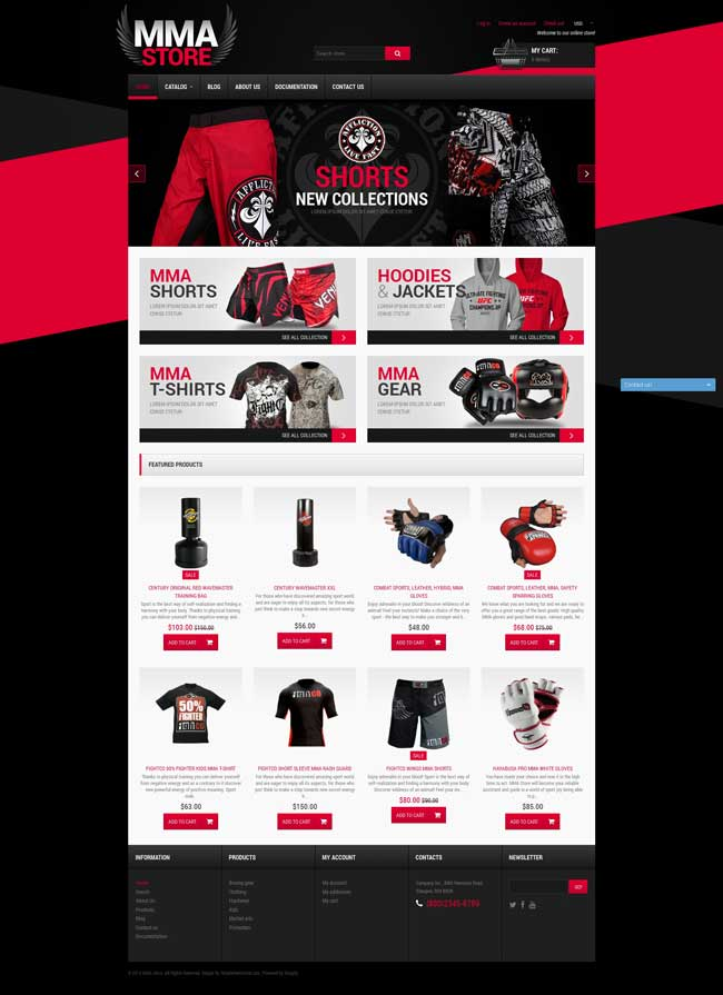 MMA-Items-Shopify-Theme