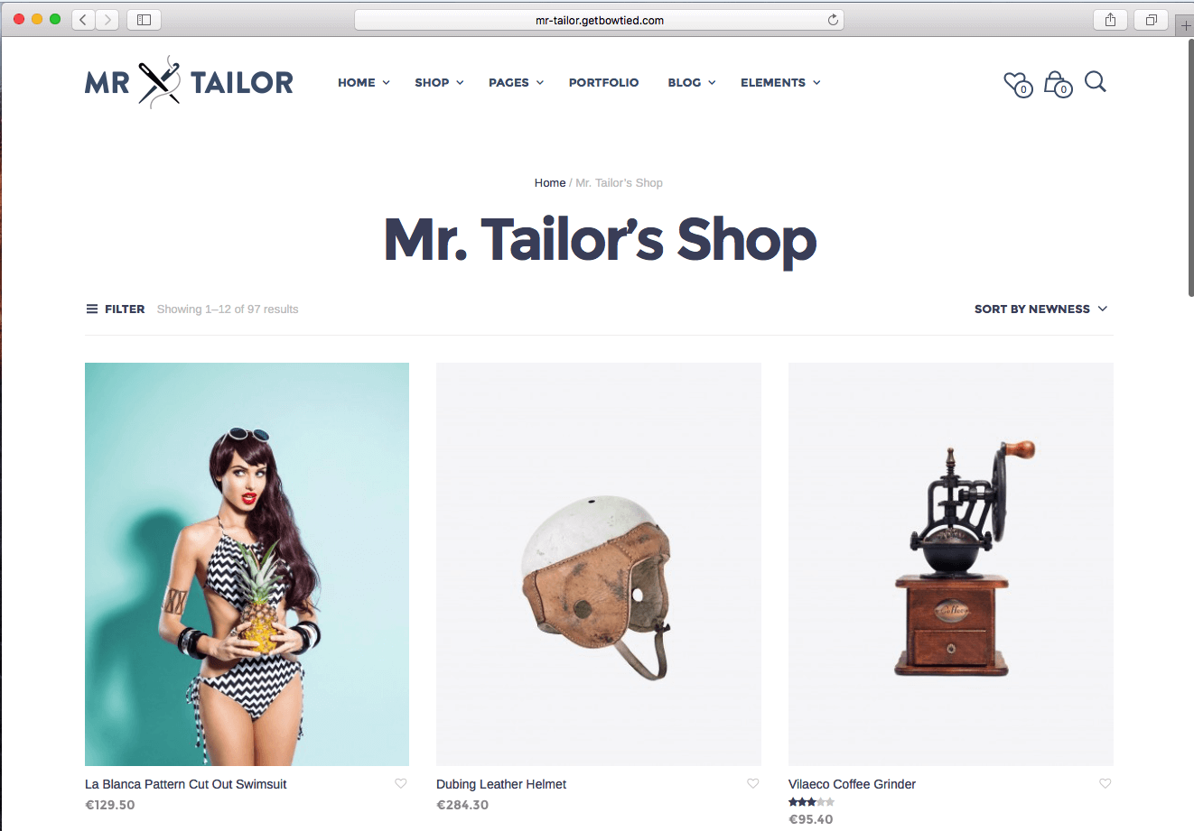 using WordPress eCommerce theme of 2016 to sell fashion products for men