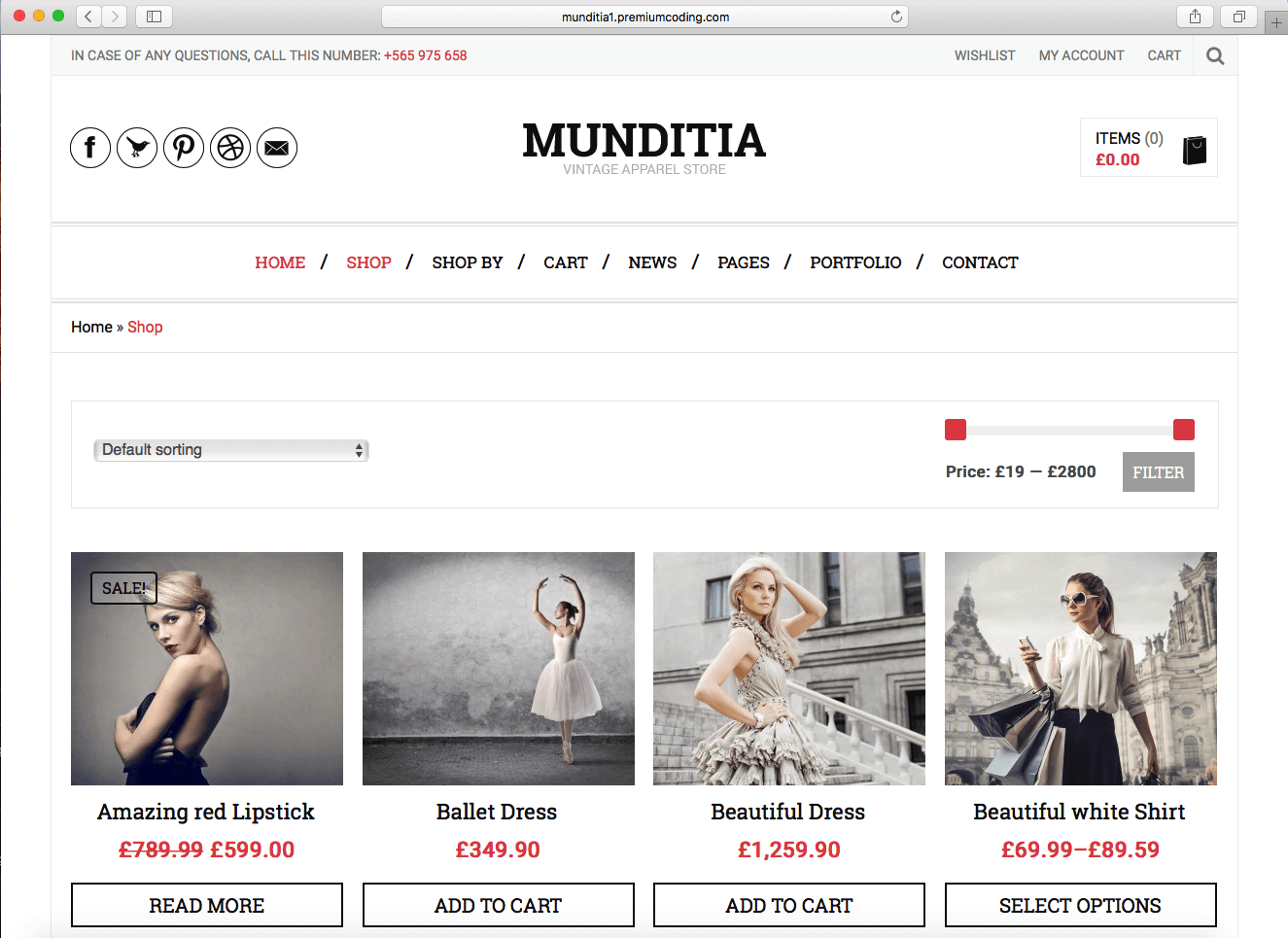 minimal WooCommerce themes of 2016 for fashion