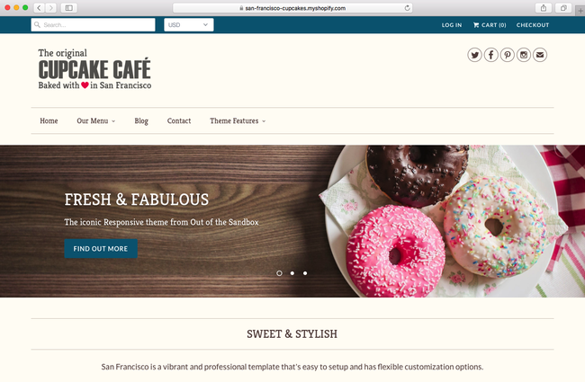 Responsive is a Shopify theme with the aim to promote for your coffee shop