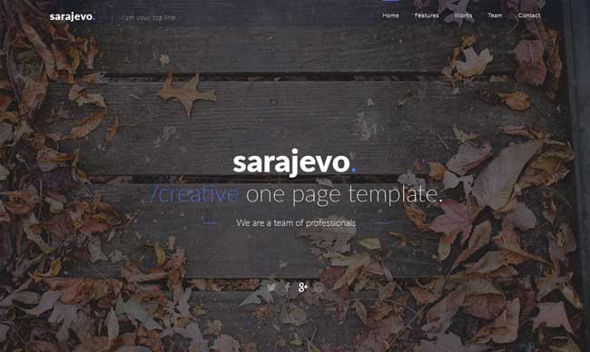Sarajevo-Free-Clean-Landing-Page-PSD-Template