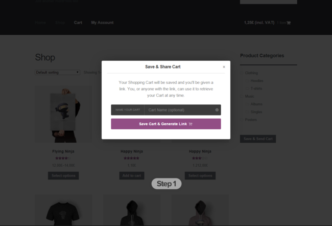 Save and share WooCommerce cart to reduce abandonment rate