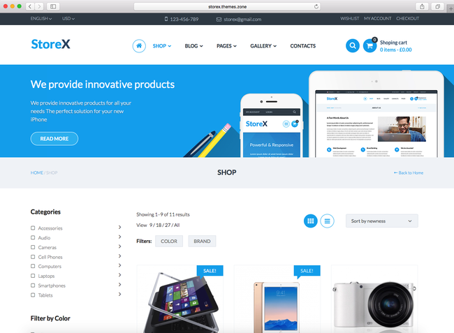 using StoreX theme for your online digital store