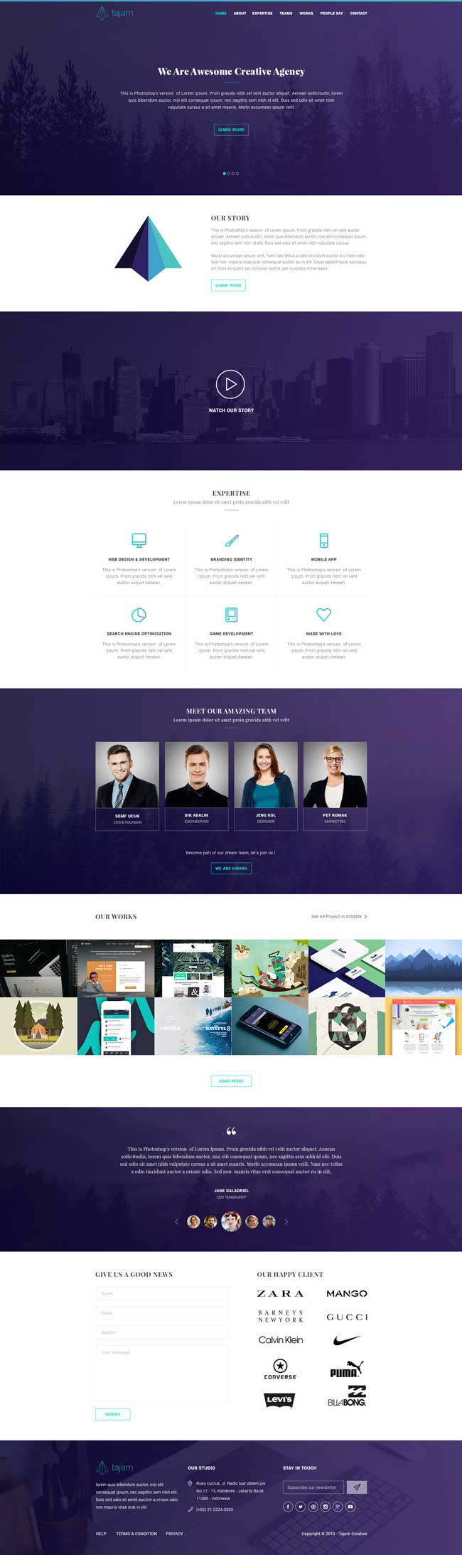 Tajam-Free-One-Page-PSD-Template-Preview