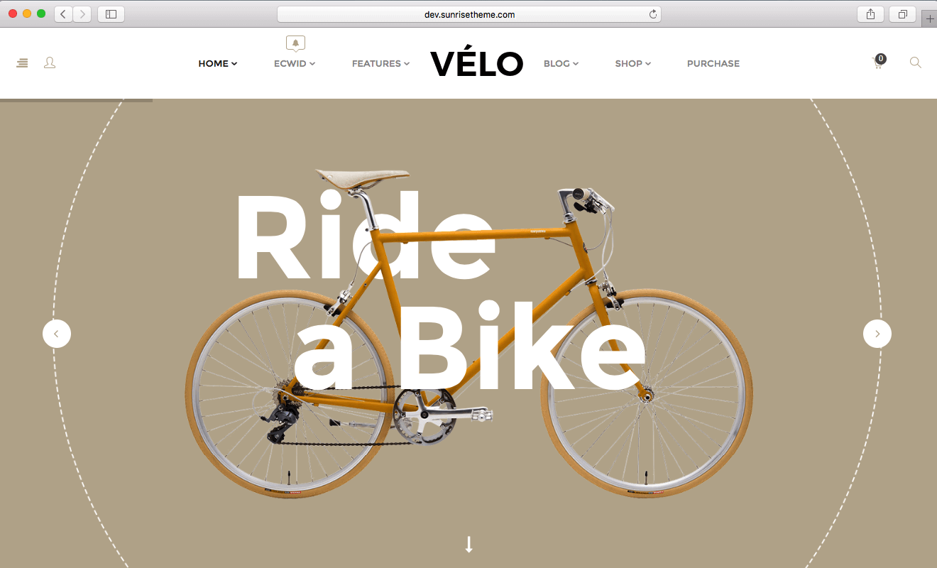 using WooCommerce 2016 to sell bikes