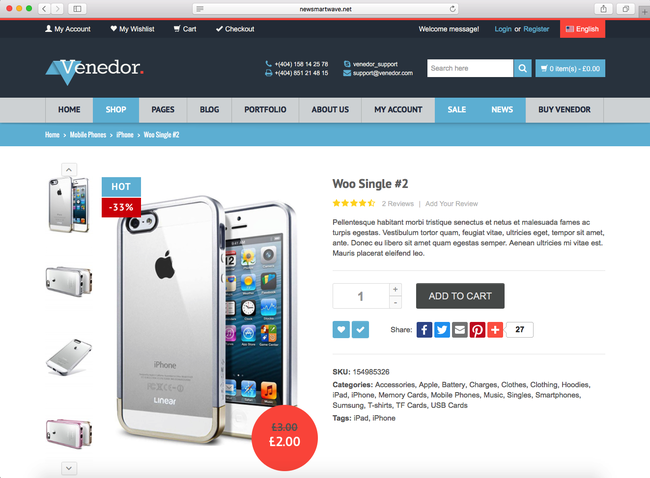 this is how your online store looks like on WordPress