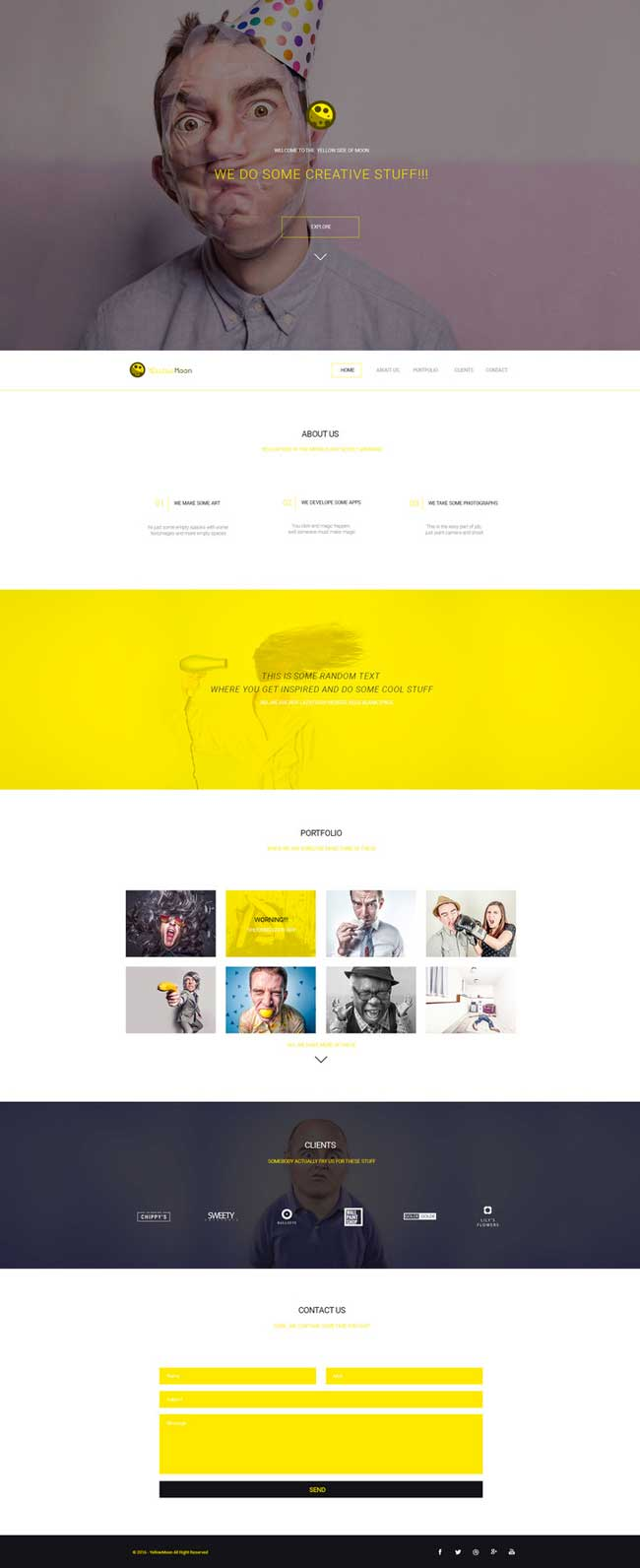 YellowMoon-Free-PSD-Landing-Page-Template-Preview