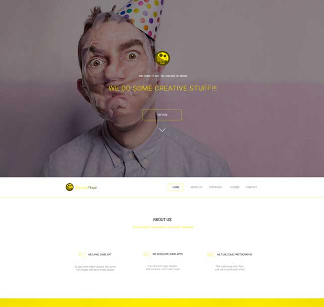 YellowMoon-Free-PSD-Landing-Page-Template