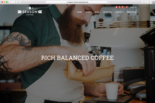 Alchemy is a Shopify theme that can be used for your coffee shop