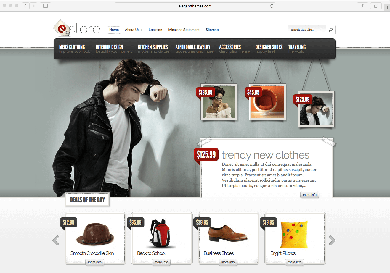 using WordPress eCommerce theme 2016 to sell fashion products