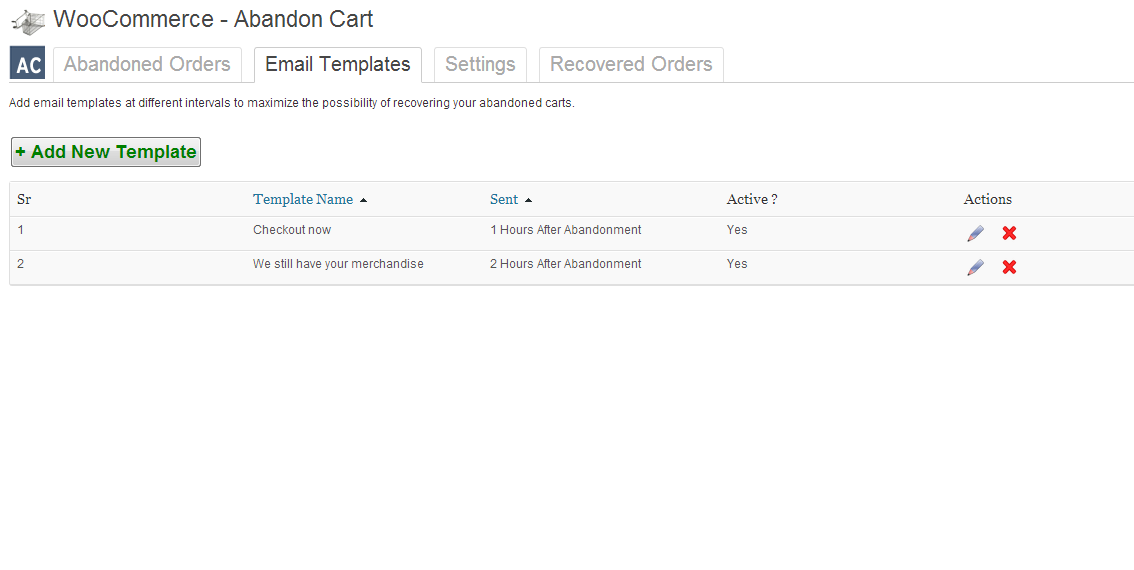 using WooCommerce abandon cart lite -2