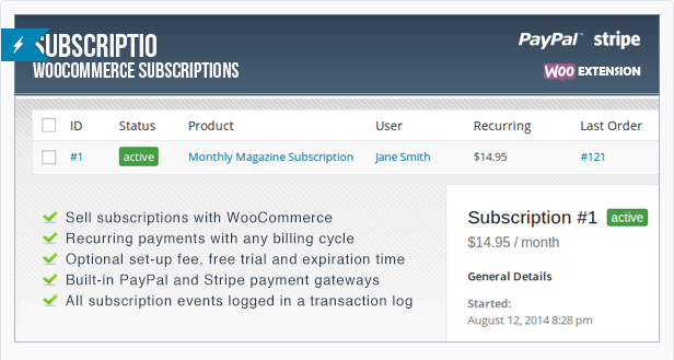 with this payment plugin, you can create subscription plans for newspapers and magazines