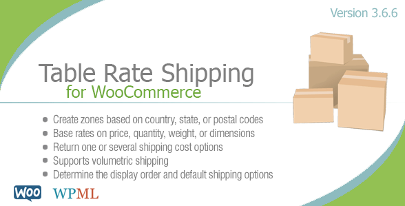 using table rate shipping for your WooCommerce website