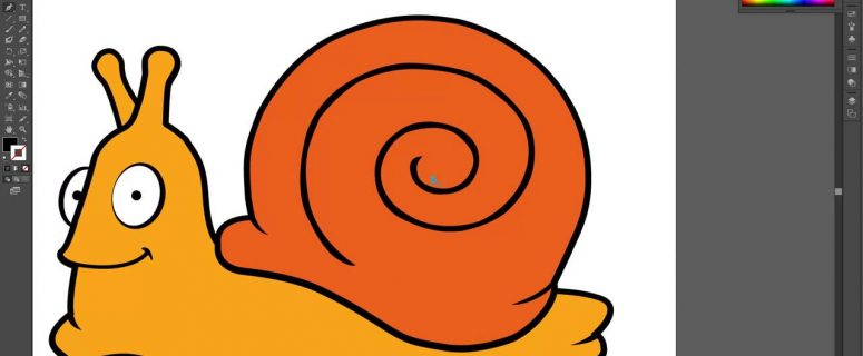 How-to-create-a-Cute-Snail-Vector-in-Adobe-illustrator