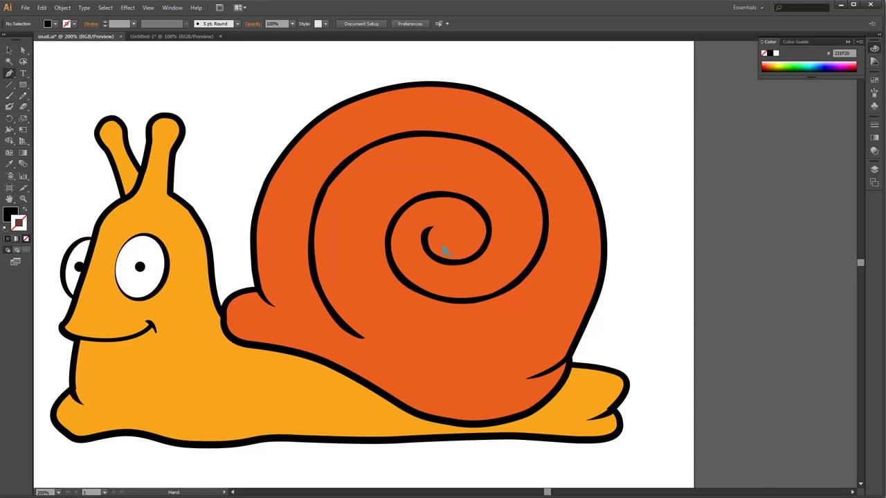 Video Tutorial How To Create A Snail Vector In Adobe