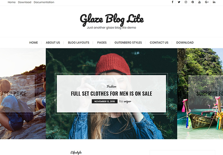 Glaze Blog Lite WordPress Theme