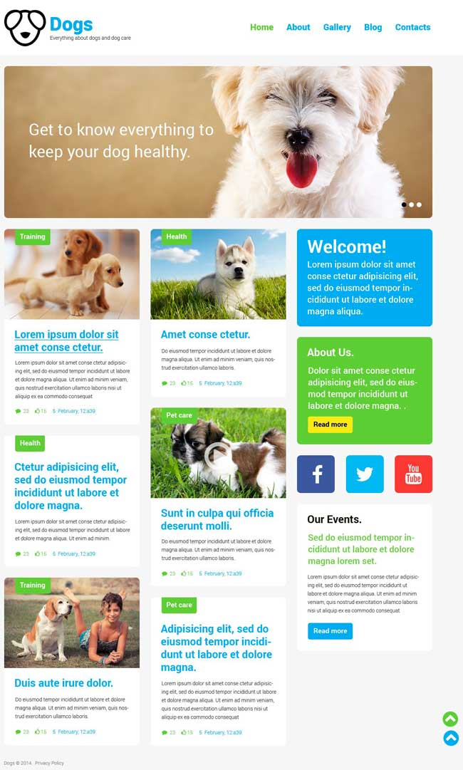 Dog-Responsive-WordPress-Theme
