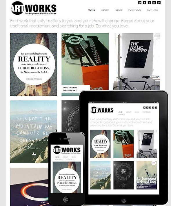 Artworks - WordPress Responsive Theme