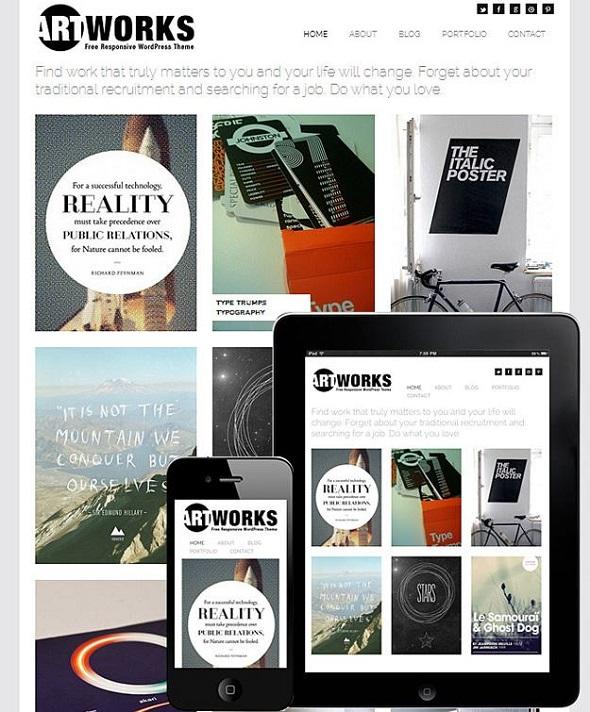 Artworks - WordPress Responsive Theme