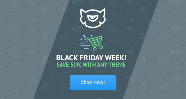 Black Friday WordPress Themes Sale