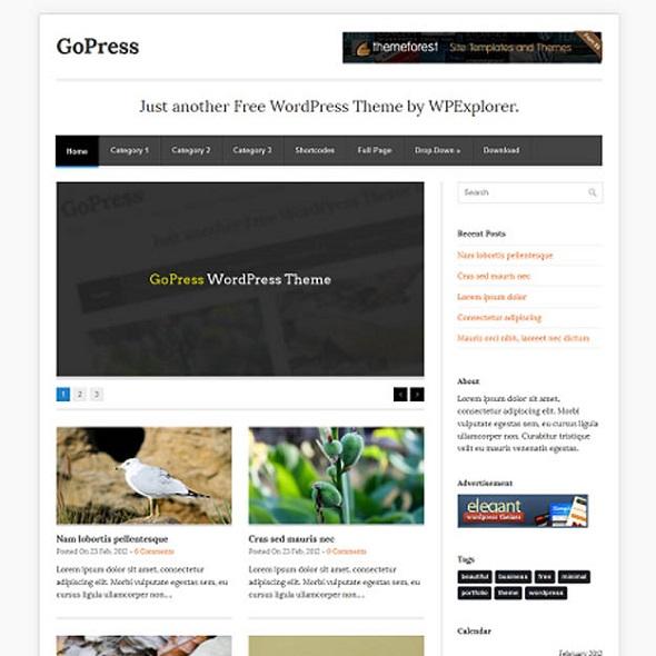GoPress - WordPress Responsive Theme