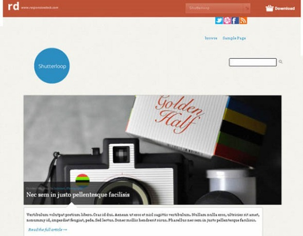 Shutterloop - WordPress Responsive Theme