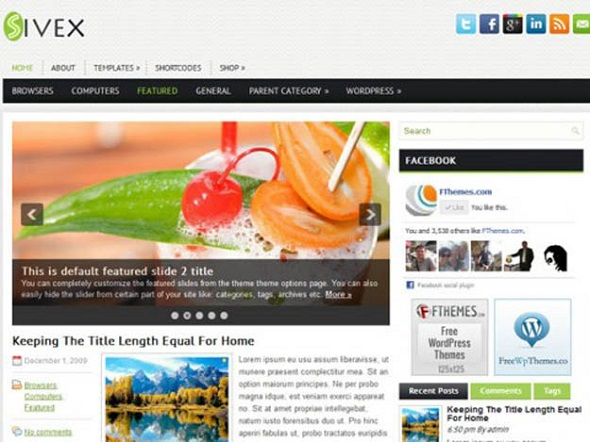 Sivex - WordPress Responsive Theme