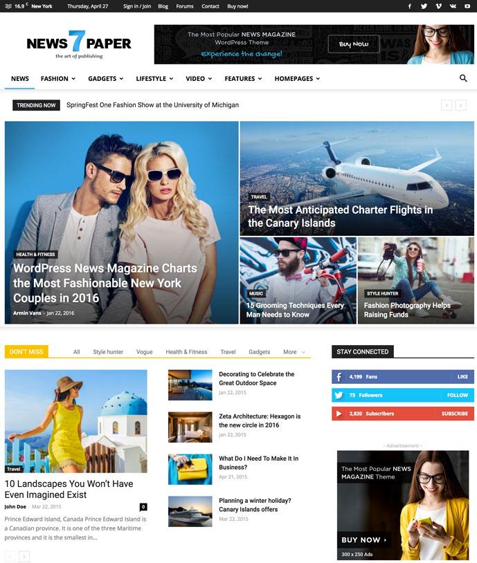 20+ AdSense Optimized WordPress Themes for More Revenue 2017 - DesignMaz
