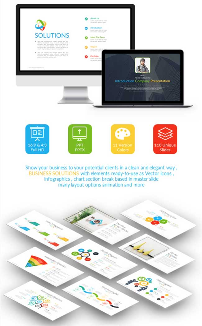 35 amazing powerpoint templates 2017 designmaz business solutions powerpoint templates cheaphphosting Images