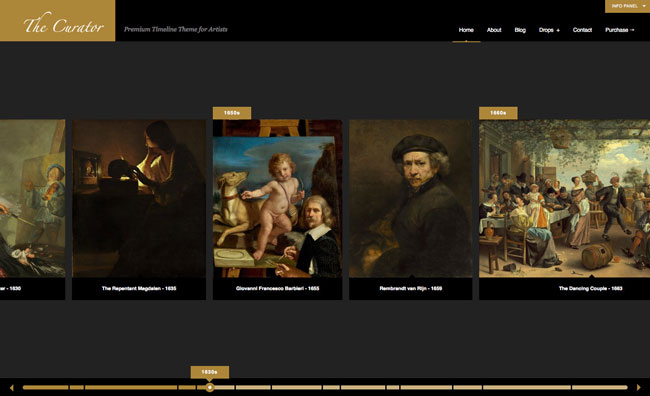 the-curator-premier-wp-timeline-theme-for-artists