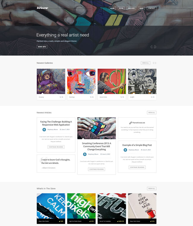 wave-wordpress-theme-for-artists