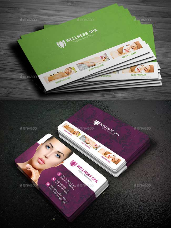 20 best beauty salon and spa business cards designmaz beauty spa business card template psd flashek Images