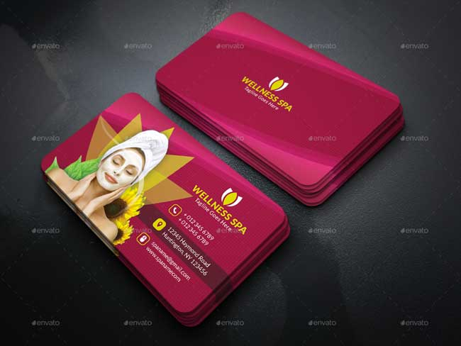 20 best beauty salon and spa business cards designmaz psd business card for beauty spa salon flashek Images