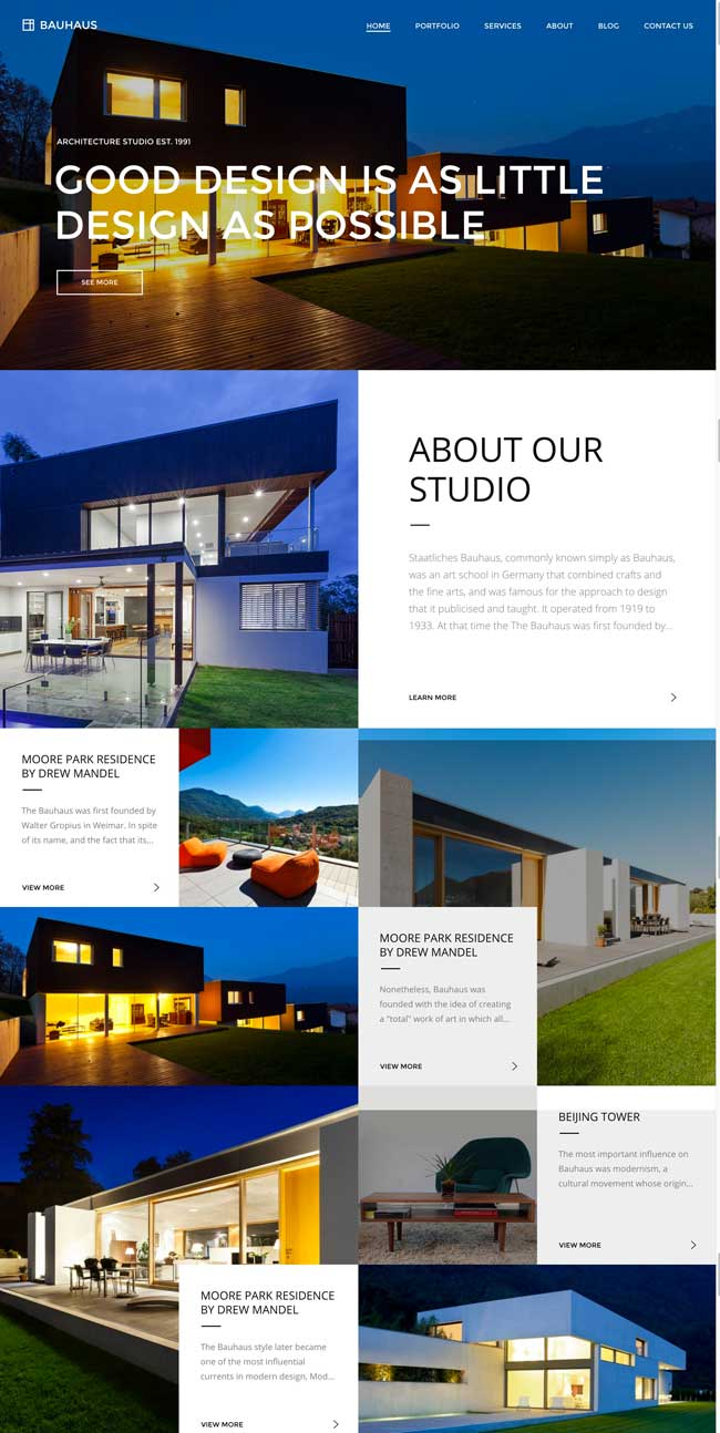 25 best wordpress themes for architects architecture for Architecture agency