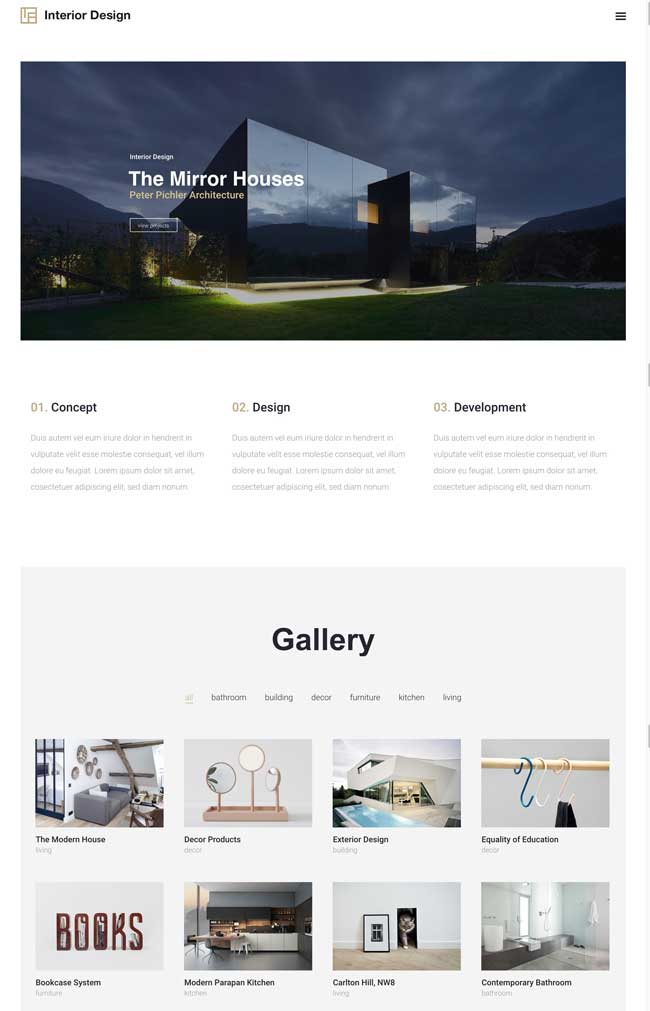 25 best wordpress themes for architects architecture for Architecture wordpress
