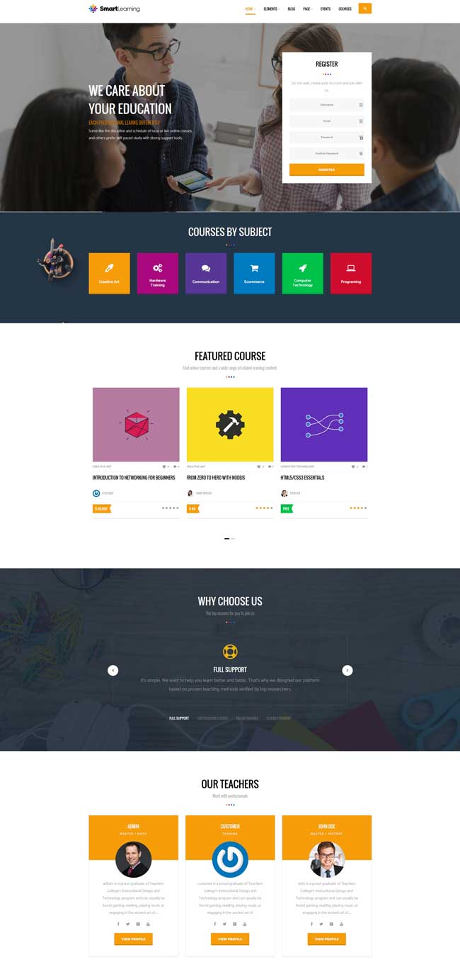 smart-learning-responsive-education-theme-for-wordpress