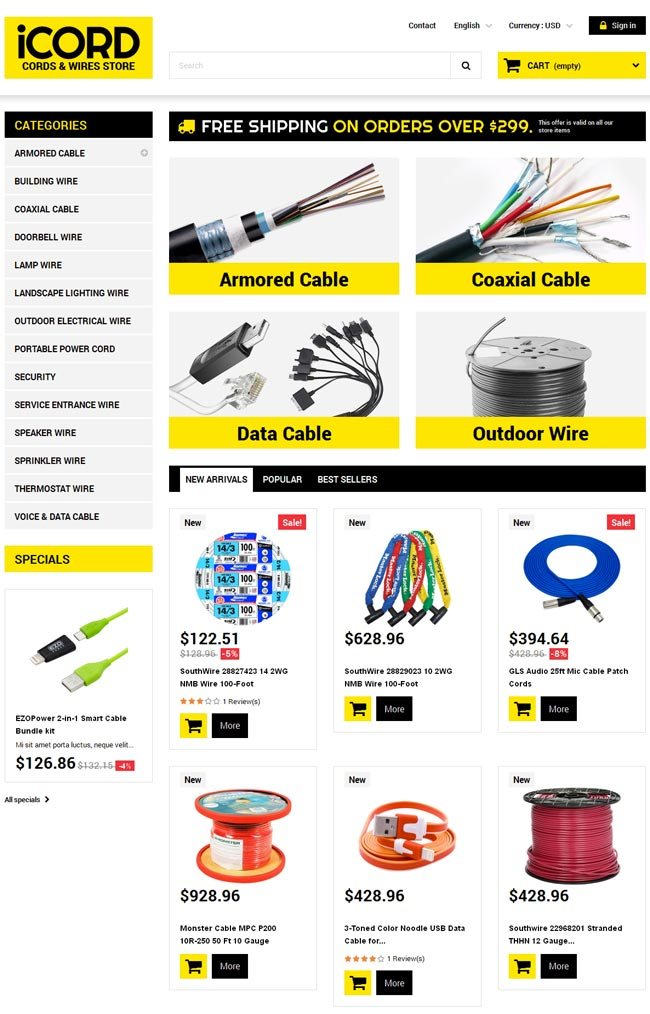 Cords-Wires-Store-PrestaShop-Theme