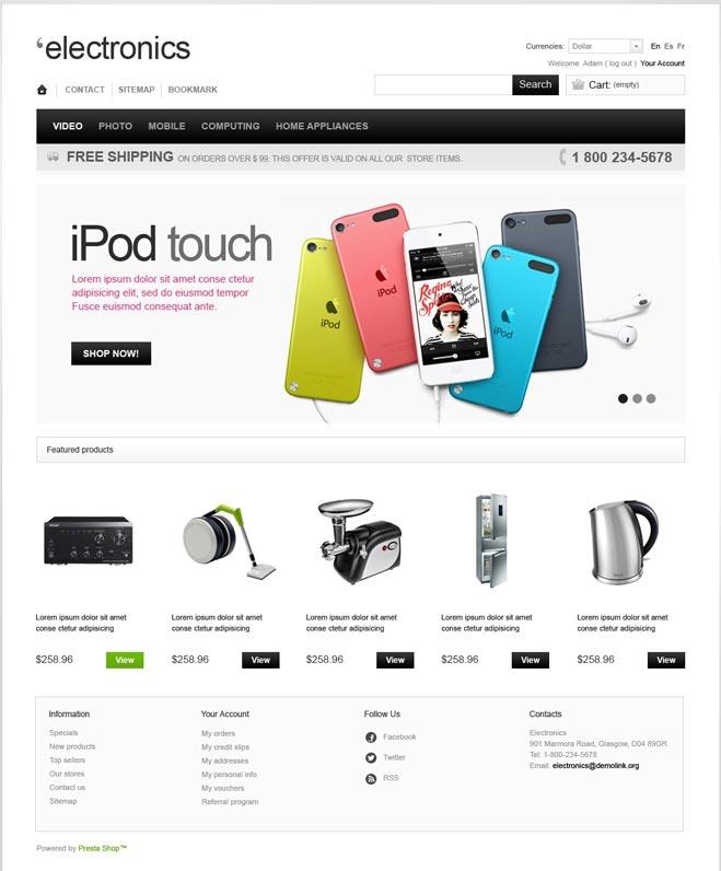 Electronics-Store-PrestaShop-Theme