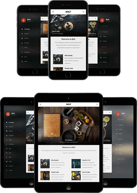 bolt-3d-mobile-tablet-responsive-template