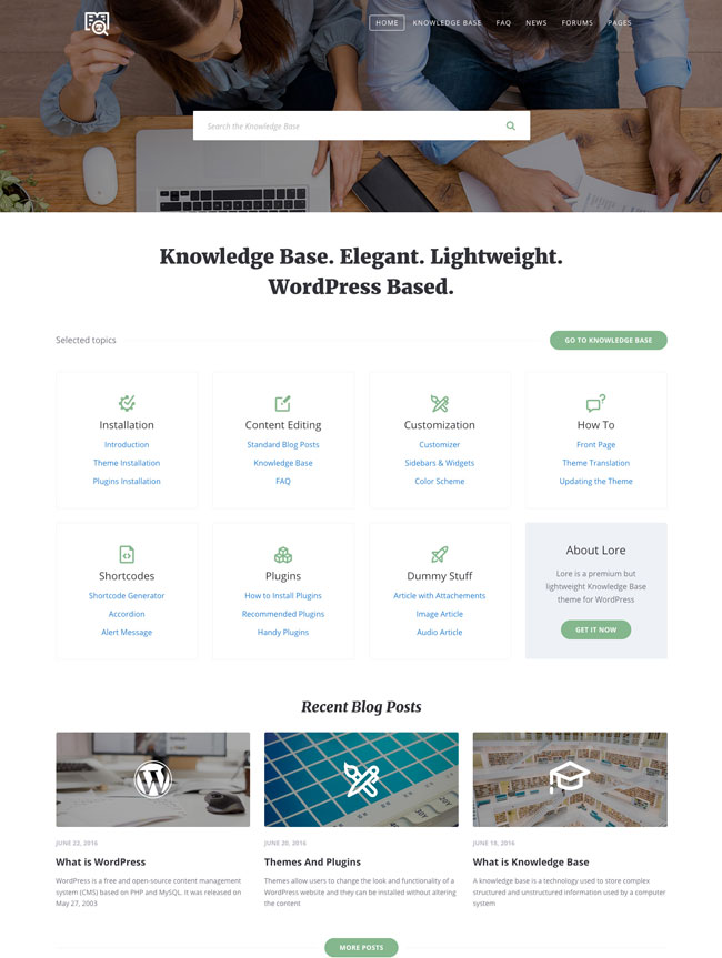 lore-elegant-knowledge-base-wordpress-theme