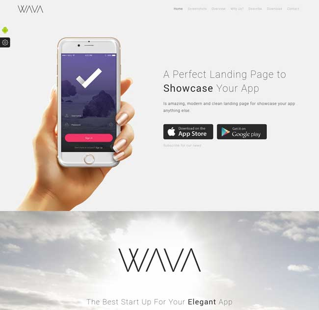 Best Mobile App Landing Page Templates - App landing page template