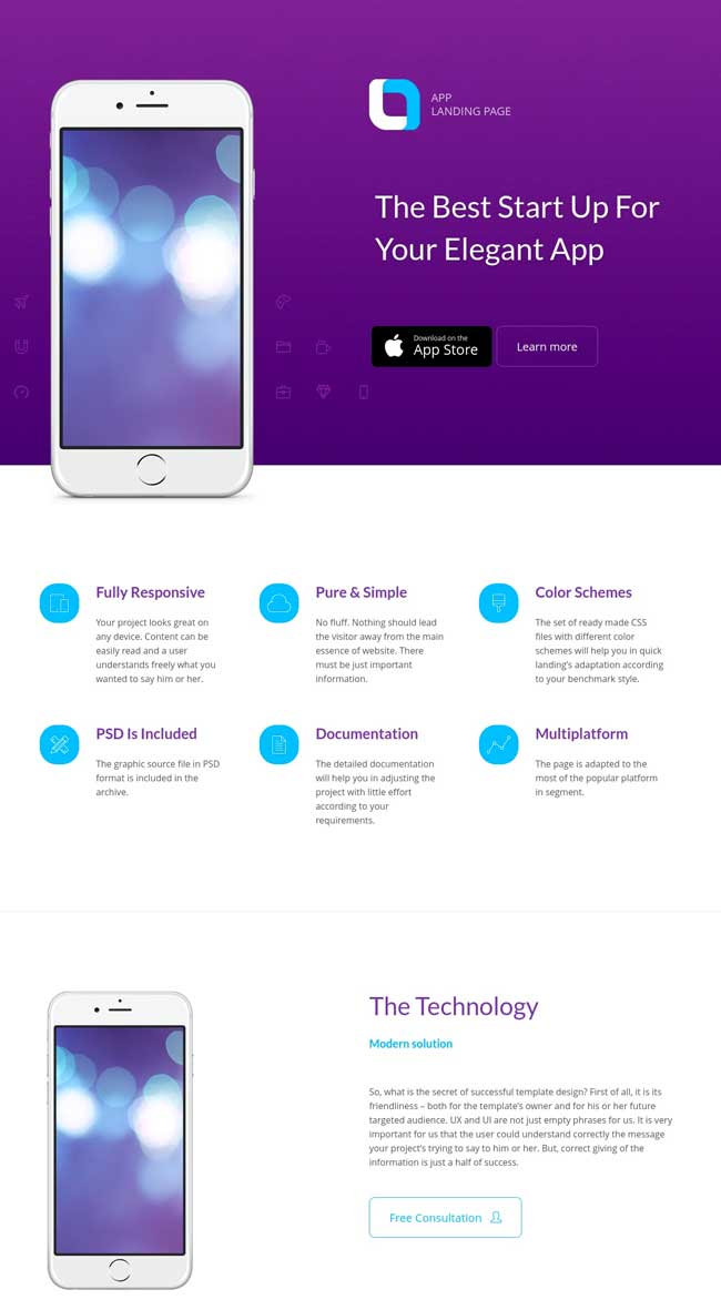 20+ Best Mobile App Landing Page Templates 2016