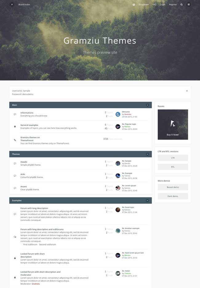 ravaio-modern-responsive-phpbb-forum-theme