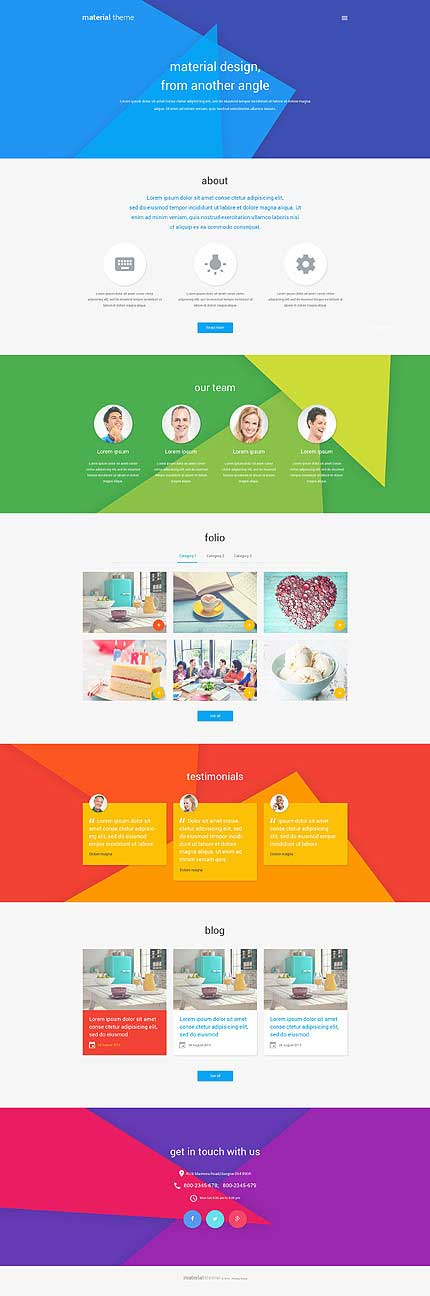 Material-Design-WordPress-Template