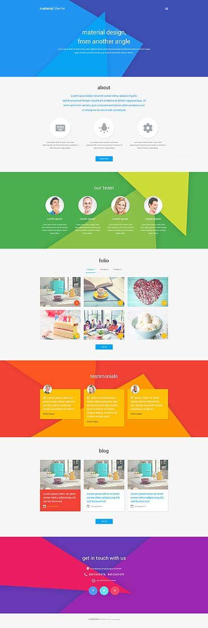 Material-Design-WordPress-Template
