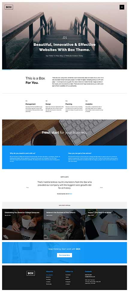 Out-of-the-Box-WordPress-Theme