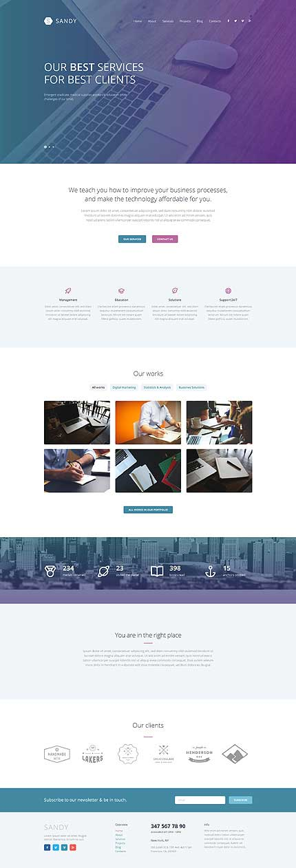 Sandy-Responsive-WordPress-Theme