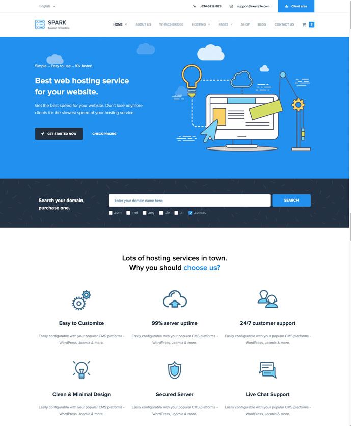 25+ Best WordPress Web Hosting Themes With WHMCS Integration 2017 ...